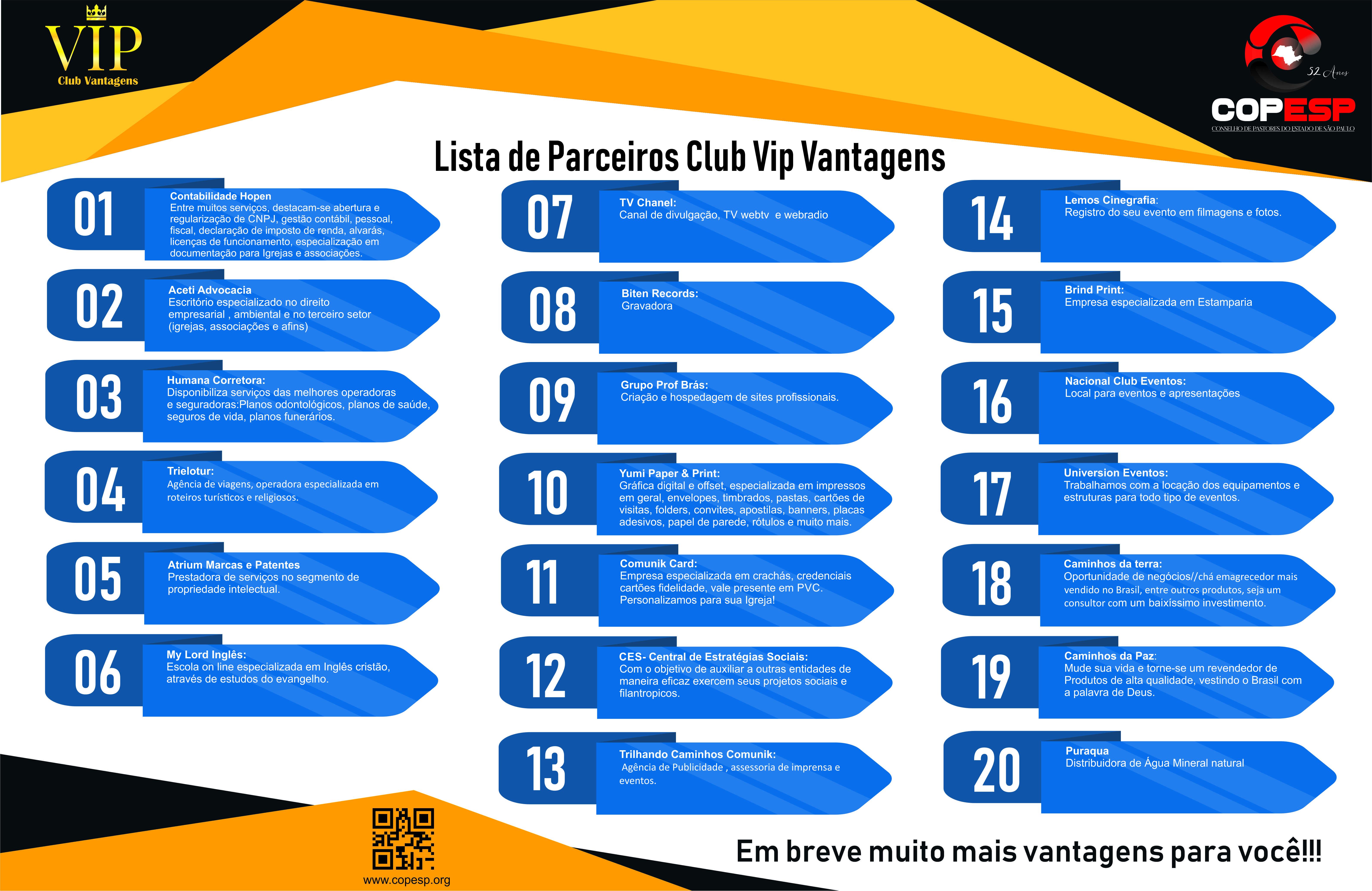 folder vantagens club vip 2021
